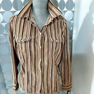 Striped corduroy shirt